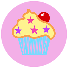 Cupcake Cake Cherry Cute Pink Logo