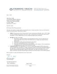 Agreement letter parts and sample agreement letter template