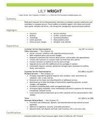 simple customer service representative resume exle livecareer