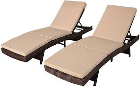 Patio Chaise Lounge Brown PE Rattan Wicker Lounger Chair Adjustable  Backrest Cushioned Deck Chair(Khaki Cushions,Set Of 2) Amazoncom Wnew 3 Pcs Patio Fniture Outdoor Lounge Stark Item Chaise Chair Brown Festival 2pcs Patiorama Adjustable Pool Rattan With Cushion Espresso Pe Wickersteel Frame Christopher Knight Home 80x275 Green Pads For Chairs Set Of 2 Gojooasis Recliner Styles Biscayne Huyya Lounges Sun Outmax Wicker Folding Back Footrest Durable Easy Carry Poolside Garden 14th Mobility Armrest Chair Staggering Medium Pc