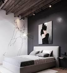 schlafzimmer moderne einrichtung industrial style deko le