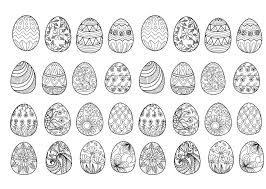 32 Easter Eggs To Print And Color Various Styles Patterns From The