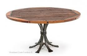 Amazing Rustic Round Dining Table Photos