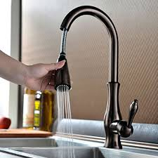 Pull Down Kitchen Faucets by Brass Singel Lever High Arc Pull Down Kitchen Faucet With