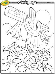 Easter Cross Coloring Pages With Page