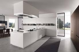 Kitchen Luxury White Decor With Rectangle Modern
