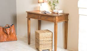 bureau teck massif bureau en teck massif style ethnique 2 tiroirs bengale