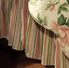 Bed Skirt With Split Corners by Garden Dream Quilt Bedding By C U0026 F Enterprises