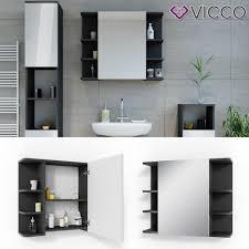 vicco spiegelschrank fynn 80 x 64 cm anthrazit badezimmerspiegel spiegel hängespiegel badspiegel