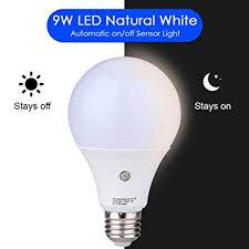 e27 led dusk to sensor light bulbs built in