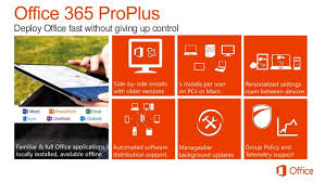fice 365 ProPlus to run deployment and management