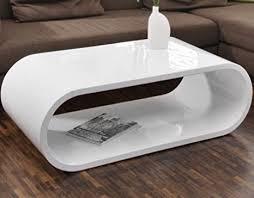 salesfever tisch weiß hochglanz 120x60cm aus mdf oval