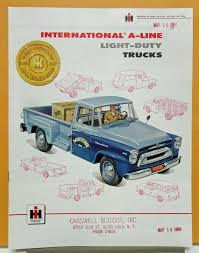1957 International Harvester Model A 100 110 120 130 Sales Brochure