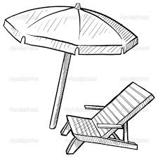 Beach Umbrella Coloring Sheet