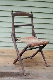 antique folding wooden c chair civil war era from
