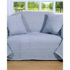 plaids canapé plaid ou jeté de canapé halden gris à motif chevrons en coton 150 x