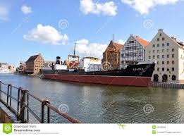 GdanskPoland August 25Ship SS Soldek In The Harbor Of Gdansk