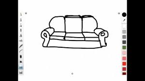 How To Draw A Simple Cartoon Sofa 3