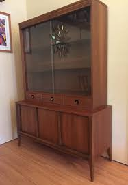 Mid Century Modern Walnut China Cabinet By Basic Witz