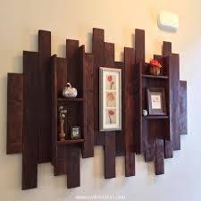 Decorative Pallet Wall Shelf TV shelf Pinterest