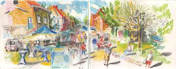 Crossroads Village Halloween by Village Festival In Doel Urban Sketchers