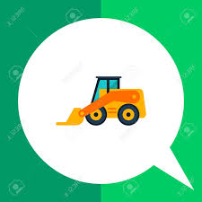 100 Skid Truck Multicolored Vector Icon Of Yellow Forklift Multicolored