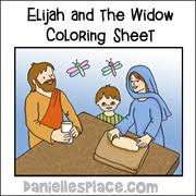 Elijah And The Widow Coloring Sheet