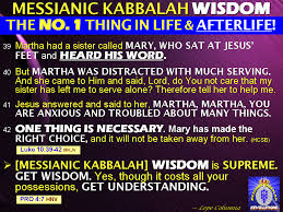 MESSIANIC KABBALAH WISDOM The NUMBER 1 Thing In This Life AfterLife World Next