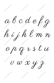 1960s Calligraphy A To Z Lowercase Letter Stencils Calligraphy