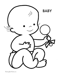 Baby Preschool Coloring Pages