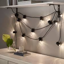 svartrå lichterkette 12 led schwarz für draußen ikea