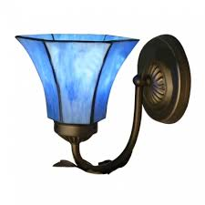 fashion style wall sconces blue lights beautifulhalo