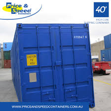 100 40ft Shipping Containers High Cube Premium Container Blue Price Speed