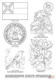 Click The Mississippi State Symbols Coloring Pages