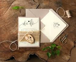Burlap Wedding Invitations Rustic Invitation Suite Country Set Wood Engraved