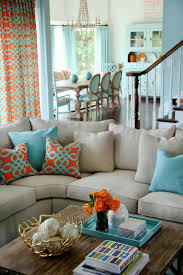 Teal Living Room Decor Ideas by Teal Orange Living Room Home Decorating Interior Design Bath