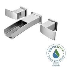 Wall Mounted Bathroom Faucets Brushed Nickel by Pfister Kenzo 2 Handle Wall Mount Bathroom Faucet In Polished