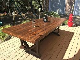 Great Rustic Outdoor Dining Furniture Patio Table Plans Large Regarding Remodel
