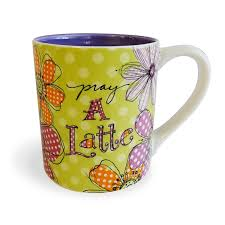 100 Robbin Rawlings Enesco 4054891 Where The Heart Is Raw Pray A Latte Daisies Mug 4125 Multicolor