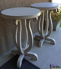 Plans For A Simple End Table by Curvy Side Table Her Tool Belt