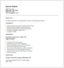 Clerical Sample Resume