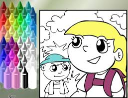 Online Food Coloring Pages For Kids Fun Virtual Healthy Pictures Nutrition Activity Game