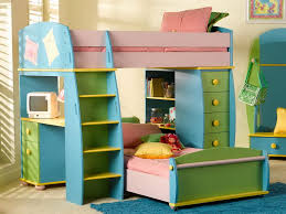 Kids Bunk Beds with Desk Girl Building Kids Bunk Beds with Desk