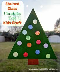 Crafting Said Simply Stained Glass Christmas Tree Kids Craft