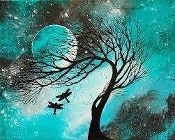 Dragonfly Bliss By Amber Elizabeth Lamoreaux Tree PaintingsCanvas PaintingsMini ArtCanvas PrintsDragonfly