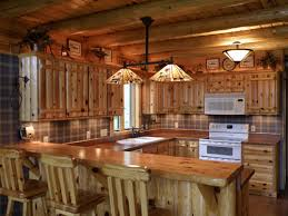 Rustic Log Cabin Kitchen Ideas by Top Cabin Kitchen Decor And Within Log Cabinets Designs Great