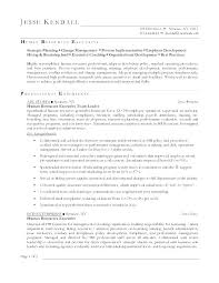 Sample Resume Human Resources Hr Manager Format For Executive