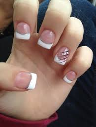 Pink And White Nail Tip Designs