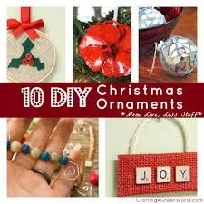 10 DIY Christmas Ornaments More Love Less Stuff