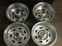 WELD RACING TYPHOON WHEELS 16X10 POLISHED RIMS 8 LUG DODGE GMC CHEVY